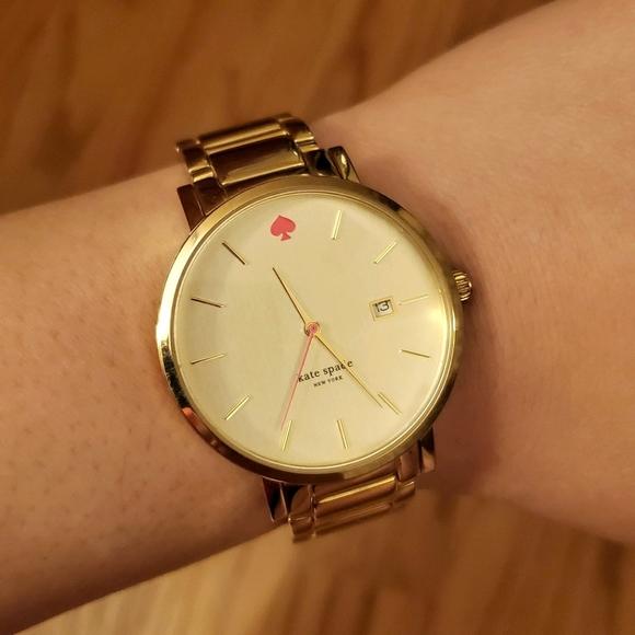 Kate Spade | 38mm Gramercy Grand Gold Tone Watch